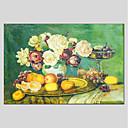 tanie Obrazy olejne-Hang-Malowane obraz olejny Ręcznie malowane - Kwiatowy / Roślinny Nowoczesny Brezentowy / Rozciągnięte płótno