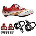 abordables Zapatos de Ciclismo-SIDEBIKE Adulto Zapatillas de ciclismo con pedal y cala / Calzado para Bicicleta de Carretera Fibra de Carbono Amortización Ciclismo Rojo Hombre / Malla respirante
