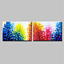 cheap Landscape Paintings-Mintura® 2 Panels Hand-Painted Modern Abstract Trees Oil Painting On Canvas Wall Art Picture For Home Decoration Ready To Hang