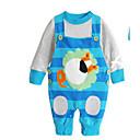 זול סטים של ביגוד לתינוקות-סט של בגדים כותנה שרוול ארוך אחיד בנים תִינוֹק / חמוד