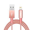 tanie Kable i Ładowarka-Oświetlenie Adapter kabla USB Wysoka prędkość / Szybka opłata Kable Na iPhone 120 cm Na PVC