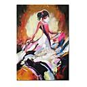 tanie Wydruki-styledecor® nowoczesny, ręcznie malowany taniec dziewczyny boczne abstrakcyjne płótno obraz olejny na płótnie