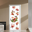 cheap Wall Stickers-Famous Christmas Decorations Wall Stickers 3D Wall Stickers Holiday Wall Stickers Decorative Wall Stickers Door Stickers, Vinyl Paper