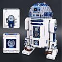 olcso Building Blocks-R2-D2 Építőkockák 2127 pcs Klasszikus téma Robot Stressz és szorongás oldására Focus Toy Fiú Lány Játékok Ajándék