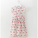 זול שמלות לבנות-שמלה כותנה ללא שרוולים פרחוני פשוט יום יומי בנות ילדים פעוטות