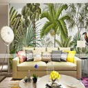 cheap Wall Stickers-Botanical Art Deco 3D Home Decoration Classic Modern Wall Covering, Canvas Material Adhesive required Mural, Room Wallcovering