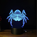 hesapli Lamba Bazları ve Konektörler-1set 3D Gece Görüşü Dokunmatik 7-Renk DC Powered Stres ve Anksiyete Rölyef USB Bağlantı Noktalı Renk Değiştiren
