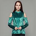 preiswerte Backformen-Damen Solide-Street Schick T-shirt,Rundhalsausschnitt Schlank