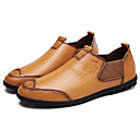 cheap Men's Slip-ons & Loafers-Men's Cowhide Spring / Fall Comfort Loafers & Slip-Ons Black / Yellow / Brown