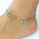 cheap Anklet-Turquoise Anklet - Infinity Bohemian, Fashion, Boho Gold / Silver For Date / Bikini / Women's