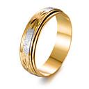 זול צמידי גברים-בגדי ריקוד גברים טבעת הטבעת - ציפוי זהב אופנתי 7 / 8 / 9 זהב עבור מתנה / אָהוּב
