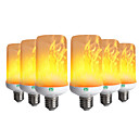 cheap LED Bi-pin Lights-YWXLIGHT® 6pcs 6W 300-400lm E26 / E27 LED Corn Lights 99 LED Beads SMD 3528 Flame Flickering Decorative Warm White 85-265V