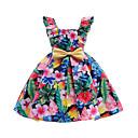 זול נעלי ילדות-שמלה כותנה פוליאסטר אביב קיץ ללא שרוולים יומי ליציאה פרחוני הילדה של חמוד פעיל קשת