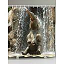 tanie Zasłony prysznicowe-Zasłony i haczyki kąpielowe Nowoczesny / Rustykalny Poliester Zwierzę Tkany maszynowo Wodoodporny