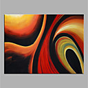 cheap Oil Paintings-Oil Painting Hand Painted - Abstract Modern Rolled Canvas