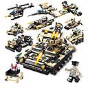 olcso Building Blocks-Építőkockák 834 pcs Katonai Stressz és szorongás oldására / Szülő-gyermek interakció Katonai járművek / Tank Ajándék