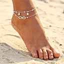cheap Rings-Layered Anklet - Pearl Infinity Double Layered, Bohemian, Fashion Gold / Silver For Evening Party / Beach / Bikini / Women's