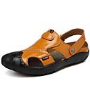 cheap Smartwatches-Men's Nappa Leather Spring / Summer Comfort Sandals Black / Brown / Khaki