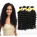 tanie Dopinki naturalne-4 zestawy Włosy malezyjskie Curly / Deep Wave Włosy virgin Fale w naturalnym kolorze / Doczepy / Pakiet One Solution Kolor naturalny Ludzkie włosy wyplata Śłodkie / Miękka / Gorąca wyprzedaż Ludzkich