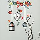 preiswerte Duschkopf LED-Beleuchtung-Wandtattoo Dekorative Wand Sticker - Tier Wandaufkleber Tiere Blumenmuster / Botanisch Repositionierbar Abziehbar