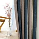 billige Moderne sko-gardiner gardiner Stue Geometrisk Bomull / Polyester Trykket