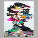 cheap People Paintings-Oil Painting Hand Painted - Abstract / People Modern Rolled Canvas