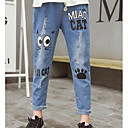 tanie Spodnie i getry-Dzieci Dla dziewczynek Podstawowy Codzienny Geometric Shape Bez rękawów Poliester Spodnie Niebieski 140