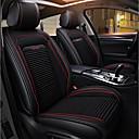 זול כיסויי למושבים לרכב-ODEER כיסויים שחור טֶקסטִיל עור PU נפוץ for אוניברסלי כל השנים כל הדגמים