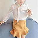 tanie Topy dla dziewczynek-Brzdąc Dla dziewczynek Prosty Jendolity kolor Bawełna Komplet odzieży