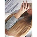 billige Syntetiske parykker-Ubehandlet U-del Parykk Brasiliansk hår Rett Blond Parykk Lagvis frisyre 130% Hair Tetthet Ombre-hår Mørke røtter Blond Dame Kort Lang Mellemlængde Blondeparykker med menneskehår Aili Young Hair