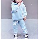 preiswerte Jacken & Mäntel für Mädchen-Mädchen Kleidungs Set Solide Baumwolle Herbst Langarm Rosa Fuchsia Leicht Blau