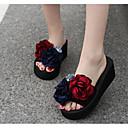 זול נעלי עקב לנשים-בגדי ריקוד נשים נעליים EVA קיץ נוחות כפכפים & כפכפים עקב טריז אדום / ורוד
