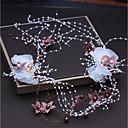 tanie Imprezowe nakrycia głowy-Włókno syntetyczne Stroik z Sztuczna perła / Satynowy kwiatek 1 szt. Ślub / Impreza / bal Winieta