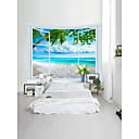 billiga Väggklistermärken-Strand Tema Landskap Väggdekor 100% Polyester Klassisk Moderna Väggkonst, Vägg Tapestries Dekoration