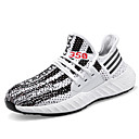 cheap Men's Sneakers-Men's Knit Spring / Summer Comfort Sneakers White / Black / Gray