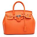 olcso Zsák táskák-Női Táskák PU Kéztáska Cipzár Fekete / Narancssárga / Rubin