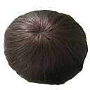 cheap Toupees-natural black 1b men s toupee indian hair natural straight