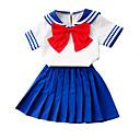 זול חולצות לבנות-בנות פעיל / בסיסי כותנה מכנסיים - דפוס פפיון פול 100 / בית הספר / פעוטות
