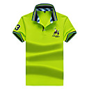 billige Ryggsekker-Bomull Tynn Skjortekrage Polo Herre - Ensfarget, Grunnleggende Aktiv Sport / Kortermet