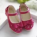 ราคาถูก รองเท้าเด็กผู้หญิง-เด็กผู้หญิง รองเท้า PU ฤดูใบไม้ผลิ รองเท้าสาวดอกไม้ รองเท้าส้นเตี้ย สำหรับ เด็ก แดง / ฟ้า / สีชมพู / TR