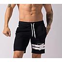 זול בגדי ריצה-בגדי ריקוד גברים שורט מפוצל לריצה - שחור ספורט מכנסיים קצרים לבוש אקטיבי