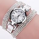 ieftine Candelabre-Pentru femei Quartz Simulat Diamant Ceas Ceas Brățară Ceas La Modă Chineză imitație de diamant Ceas Casual PU Bandă Casual Modă Negru Alb