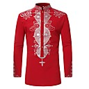 cheap Religious Jewelry-Men's Shirt - Tribal Print Standing Collar / Long Sleeve