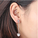 cheap Earrings-Women's Cubic Zirconia Drop Earrings - Flower Simple, European, Fashion Gold / Silver / Rose Gold For Wedding / Party / Evening