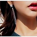 cheap Earrings-Tassel Stud Earrings Front Back / Ear Jacket - Star Simple Tassel Fashion Jewelry Silver For Wedding Evening Party
