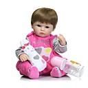 abordables Instrumentos-NPKCOLLECTION Muñecas reborn Bebés Niñas 16 pulgada Cuerpo completo de silicona / Silicona - Pestañas aplicadas a mano, Clavos inclinados y sellados, Cabeza de disquete Kid de Unisex Regalo
