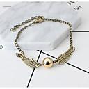 זול צמיד אופנתי-בגדי ריקוד נשים שרשרת וצמידים - פלדת על חלד חיה, כנפי מלאך ארופאי צמידים זהב / כסף עבור יום הולדת מתנה