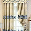 abordables Cortinas de lujo-cortinas cortinas Sala de estar Floral Algodón / Poliéster Bordado