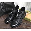 tanie Męskie obuwie sportowe-Męskie Komfortowe buty Świńska skóra Wiosna / Jesień Adidasy Czarny