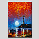 cheap Oil Paintings-Oil Painting Hand Painted - Landscape Modern Canvas